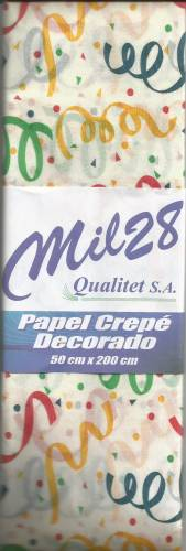 Papel Crepe Fantasia Mil28 Fiesta