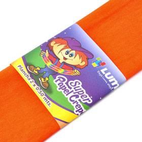 Papel Crepe Naranja Paq X 10 Unid