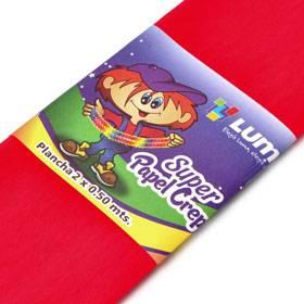 Papel Crepe Rojo Paq X 10 Unid