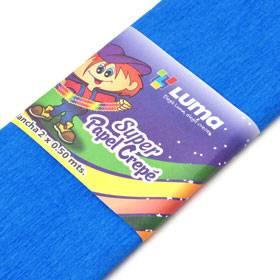 Papel Crepe Azul Paq X 10 Unid