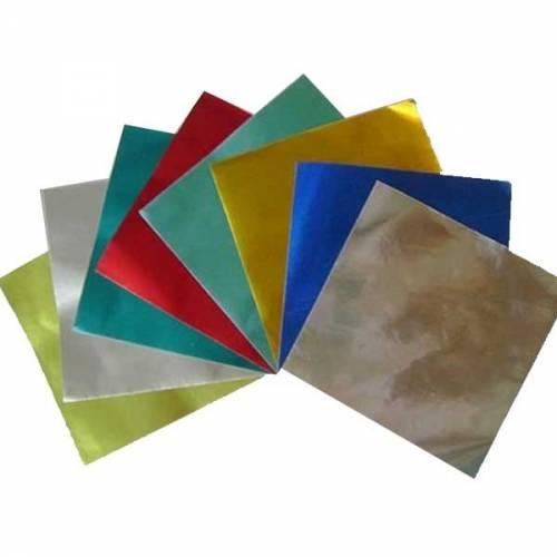 Papel Glase Metalizado 15x15 Sob X 10