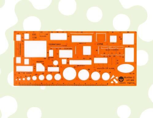 Plantilla Pizzini De Dibujo Muebles 2 Esc:1/50