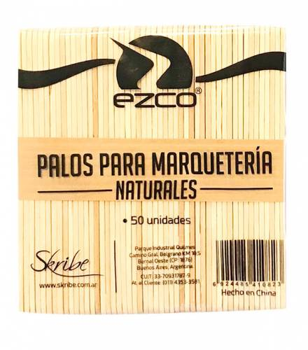 Palito Helado Natural Paq X 50 Unid