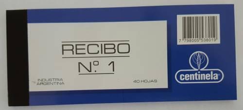 Recibo Centinela Nº1 X 40 Hjs
