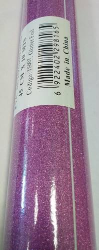 Rollo Autoadhesivo 45x10 Mts Glitter Rosa Ts007