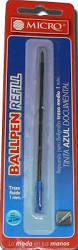 Repuesto Micro P/boligrafo Tipo Cross Azul
