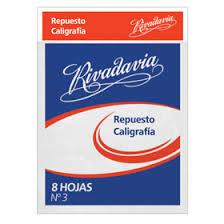 Repuesto Rivadavia N°3 Caligrafia 11