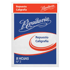 Repuesto Rivadavia N°3 Caligrafia 12