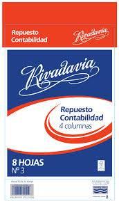 Repuesto Rivadavia N°3 Contabilidad 4 Columnas