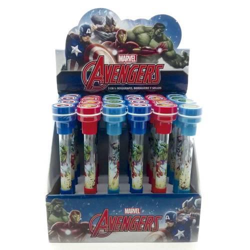 Boligrafo Cresko C/burbujero Avengers Sp565