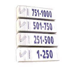 Talonario Guardarropa 1-1000