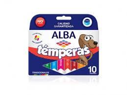 Témpera Alba Caja 8 Ml X 10 Unidades Negro