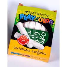 Tiza Playcolor Blanca X 12 Un